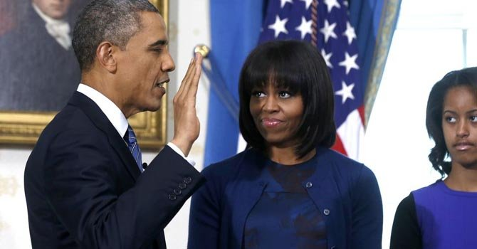 Barack Obama juró el domingo 20 en la Casa Blanca, para iniciar oficialmente su segundo mandato.