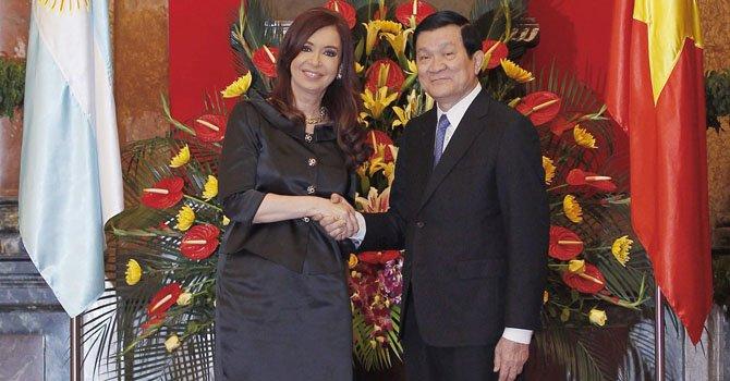 Cristina Fernández visita Vietnam para estrechar lazos