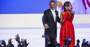 El presidente Barack Obama y la primera dame Michelle Obama después del baile el lunes 21 de enero.
