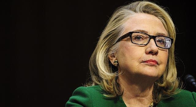 La secretaria saliente de Estado, Hillary Clinton, el miércoles 23, al declarar sobre el caso Benghazi.