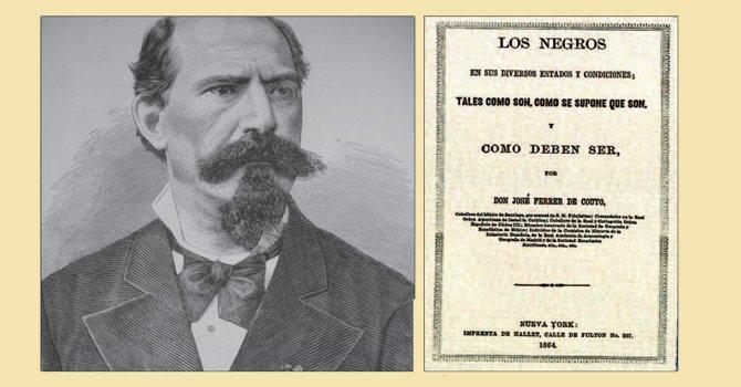 IDEAS. José Ferrer de Couto creía que había una esclavitud buena y otra mala. POLÉMICO. El libro que escribió sobre la esclavitud.