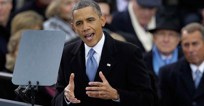 FIRMEZA. Tras juramentar en su segundo mandato, el lunes 21, Barack Obama llamó a trabajar en unidad.