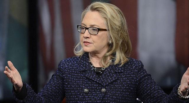 La secretaria de Estado Hillary Clinton en el Newseum de Washington, DC el 29 de enero.