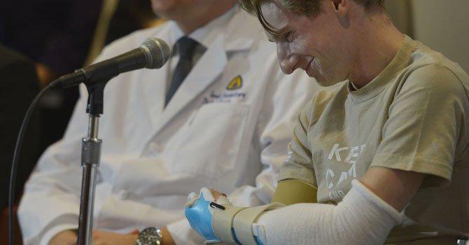 """Soldado que recibe doble trasplante: """"vuelvo a vivir"""""""