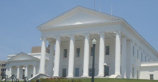 El edificio de La Asamblea Legislativa de Virginia, en Richmond.