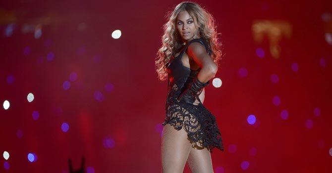 Beyonce durante el show intermedio del Super Bowl 2013, en Nueva Orleans, el domingo 3.