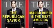 El senador republicano por Florida Marco Rubio en la portada para EE.UU de Time (a la izquierda) y la portada en su versión internacional (a la derecha).