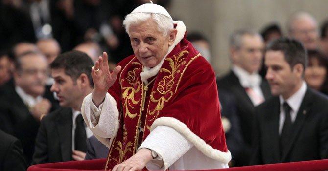 El l papa Benedicto XVI.
