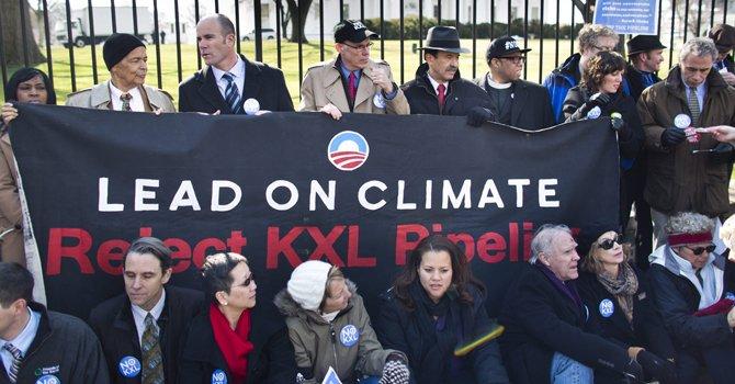 Multitudinaria protesta en DC contra megaoleoducto