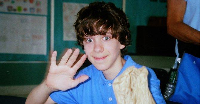 Adam Lanza cuando era niño.