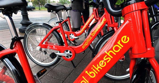 En DC, el sistema Bike Share permite el alquiler de las bicicletas en las estaciones de Metro.