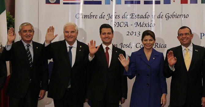 Inicia cumbre México-Centroamérica en Costa Rica