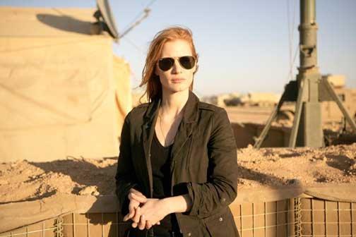 """Jessica Chastain, nominada a Mejor Actriz por """"Zero Dark Thirty""""."""