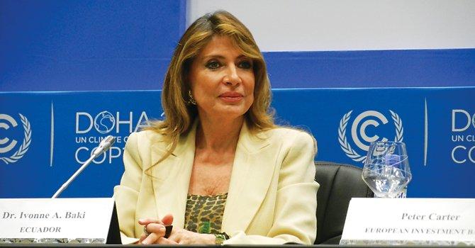 LÍDER. La embajadora Ivonne Baki fue una de las potentes voceras en la conferencia sobre el cambio climático de Doha, Qatar, en diciembre de 2012.