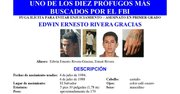 """Fotografía cedida por la Oficina Federal de Investigaciones (FBI) que incluyó hoy, jueves 14 de marzo de 2013, en su lista de los diez más buscados al salvadoreño Edwin Ernesto Rivera Gracias, miembro de la """"Mara Salvatrucha"""" (MS-13), acusado de asesinar a un conocido de la familia de su novia."""