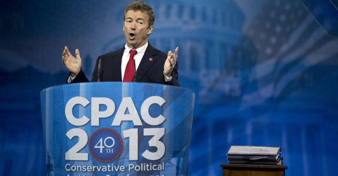El senador federal republicano Rand Paul.