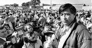 El activista César Chávez en el Valle de Salinas, en 1979.