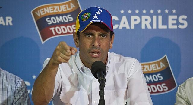 El oposito venezolano Henrique Capriles advierte sobre un eventual golpe de estado de Nicolás Maduro.