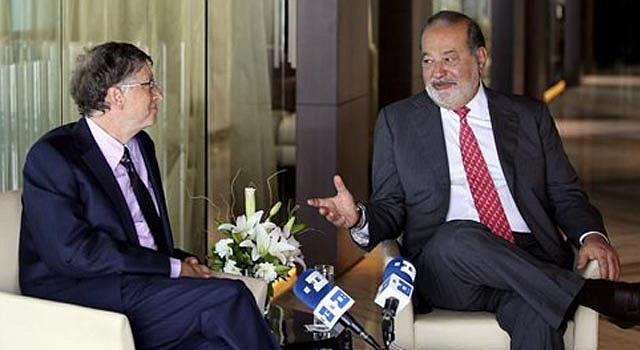 Bill Gates y Carlos Slim, por primera juntos en una entrevista, en abril de 2013.