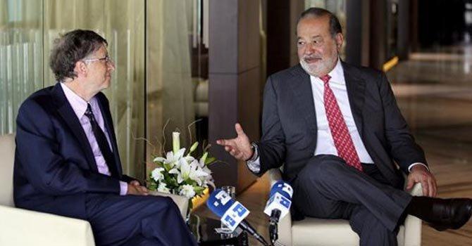 Bill Gates y Carlos Slim se unen contra la polio