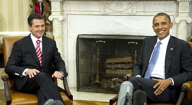 El presidente Enrique Peña Nieto, de México, y su homólogo Barack Obama.