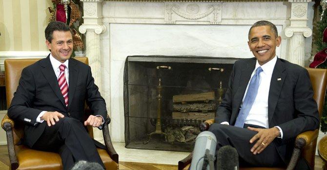 Obama comienza visita a México y Costa Rica