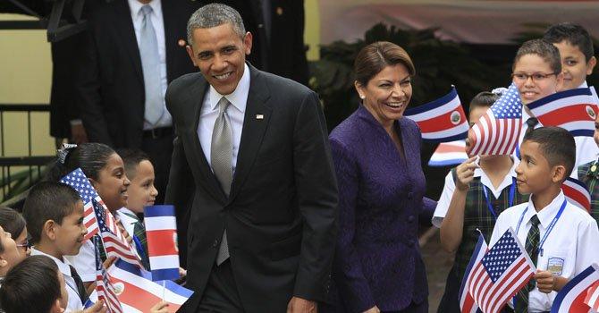 Obama hace visita oficial a Costa Rica