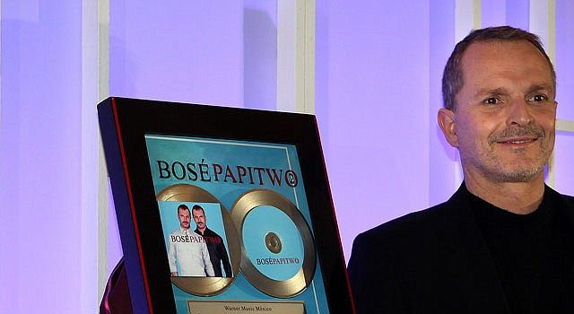El cantante español Miguel Bosé.