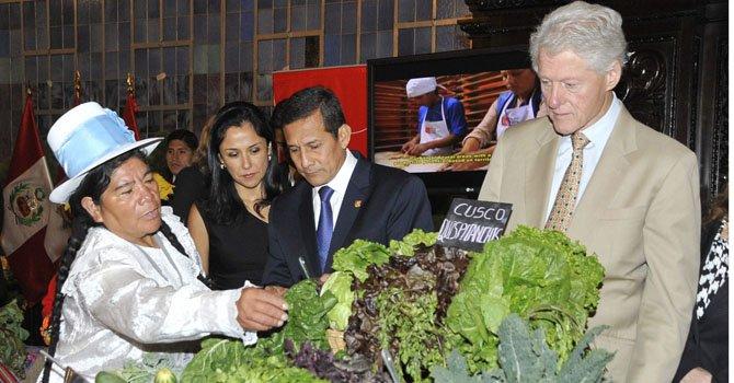 Perú: Humala y Clinton firman convenio turístico