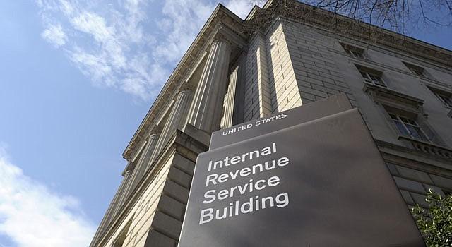 Fachada del edificio del Servicio de Rentas Internas (IRS, por sus siglas en inglés).
