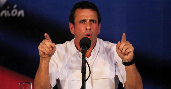 Capriles: en 5 días deben ser verificadas firmas para revocatorio en Venezuela