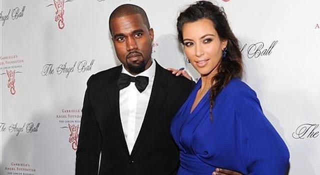 El cantante Kanye West y su novia Kim Kardashian asisten a un evento de Gabrielle's Angel Foundation en beneficio de la investigación de cáncer, en Nueva York, el 22 de octubre de 2012.