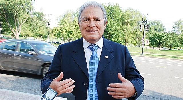 OPTIMISTA. El vicepresidente Salvador Sánchez Cerén el miércoles 12, en DC.