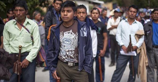 Guatemaltecos protestan por cementera