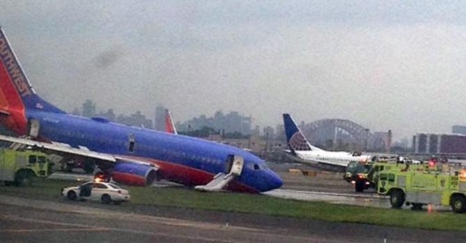 Colapsa avión Southwest Airlines