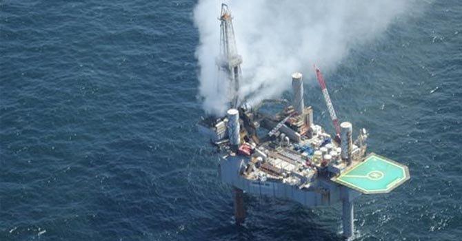 Pozo con fuga de gas se incendia en golfo de México