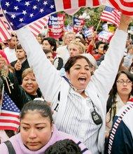 El espíritu de los hispanos en favor de la reforma, predomina, pero la última palabra la tienen los republicanos.