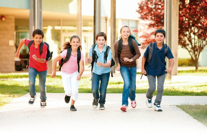 Niños peatones