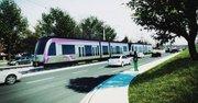 FUTURO. Diseño del tren que pasaría por la University Boulevard.