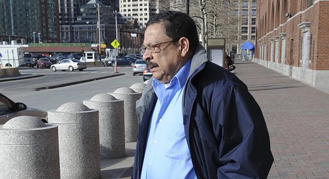 Fotografía de archivo del 11 de enero de 2012 donde se ve al exmilitar salvadoreño Inocente Orlando Montano, investigado en España en relación con la matanza de seis jesuitas, cinco de ellos españoles, en 1989, en Boston.