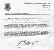 MEMORÁNDUM. Envíado por el jefe de la Policía, Thomas Manger, el 12.