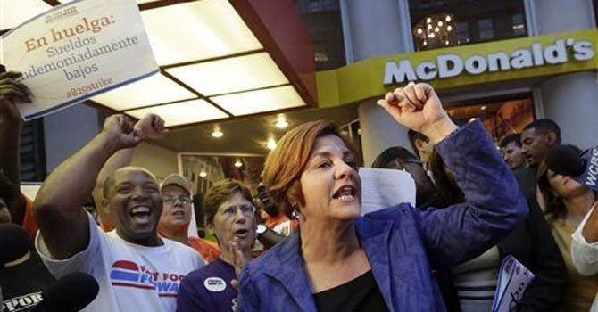 La comida rápida está de huelga