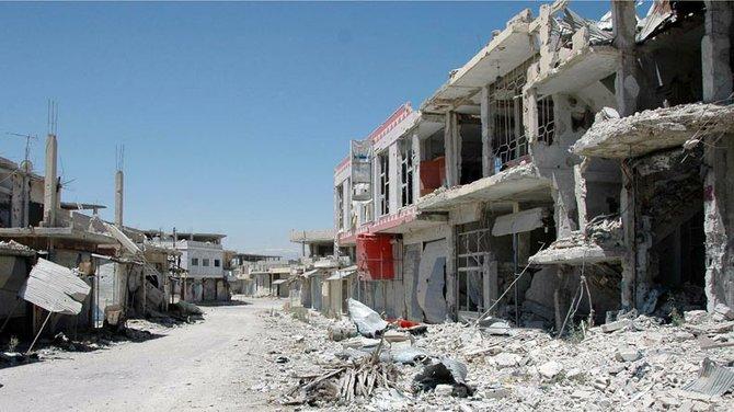 Con este tipo de imágenes, como ésta del devastado barrio de Qusair, se encontrarán las tropas estadounidenses si llegan a Siria. La paz no es algo que esté a la vuelta de la esquina...