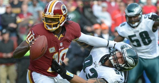 Redskins reciben a Eagles en Landover, MD