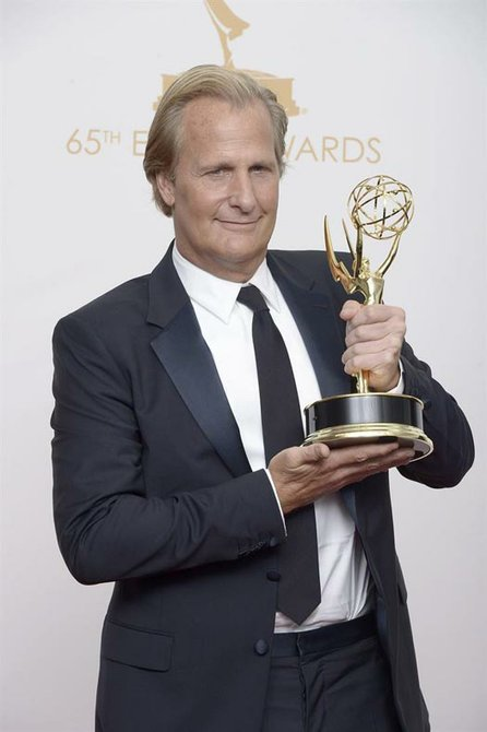 "Jeff Daniels ganó como Mejor Actor Protagónico por ""The Newsroom""."