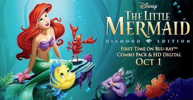Ganate un Blu-Ray y DVD edición especial de la pelicula La Sirenita