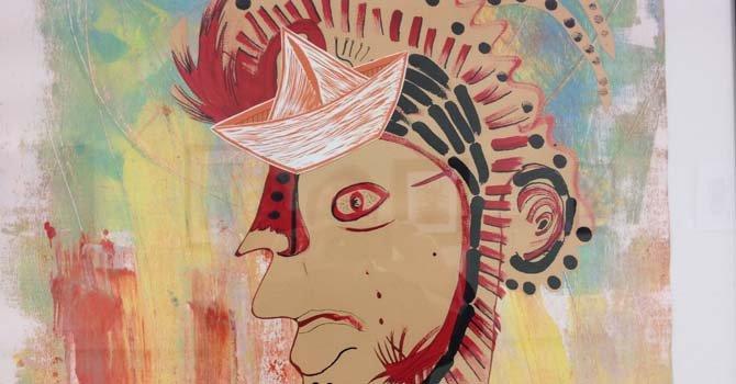 Detalle de una obra del artista cubano Jorge Porrata, residente en Fairfax, Virginia.