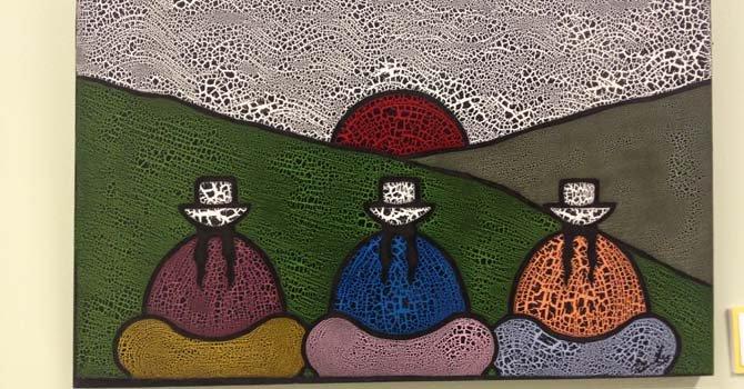 Detalle de una obra de la artista puertorriqueña Sandra Pérez Ramos quien reside en Maryland.