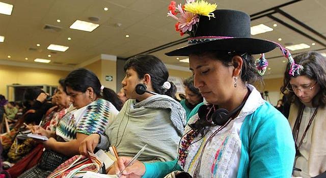 La cumbre de mujeres indígenas de Lima, Perú.