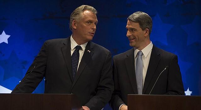El demócrata Terry McAuliffe (izq.) y el republicano Ken Cuccinelli.